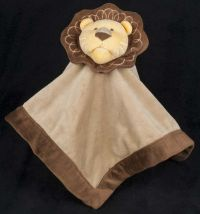 Amy Coe Lion Brown Yellow Lovey Plush Security Blanket